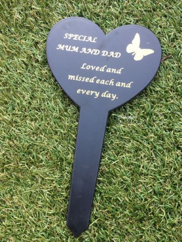 Graveside Memorial Butterfly Stake SPECIAL MUM & DAD DF17917F